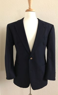 Vintage Burberrys' 40S Wool Navy with Gold Buttons Sport Coat by StatelyVintageShop on Etsy https://www.etsy.com/listing/537063882/vintage-burberrys-40s-wool-navy-with