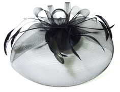 Black Fascinator Hat. $39.99AUD  #Fascinator #Hat #Black