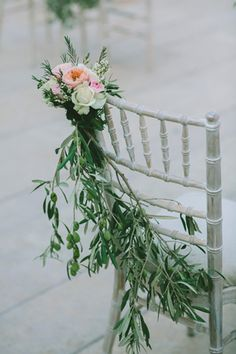 #olive_decor_wedding #wedding_chair_ideas #olive_theme_wedding See more http://www.love4weddings.gr/vintage-wedding-olive-theme/