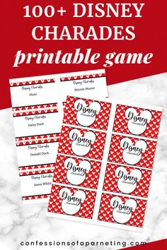 Looking for a fun printable game for kids? This Disney Charades game is the perfect way to spend time as a family and make lasting memories together. #printable #game #gamesforkids #fun #familyfun
