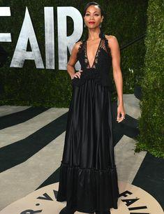 Zoe Saldana in Givenchy @ Vanity Fair Oscars Party 2013. #rogerviviervanityfair