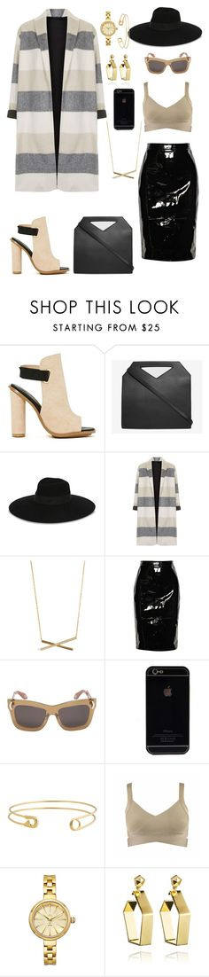 """"""""""" by ashleyykayy ❤ liked on Polyvore featuring Shoe Cult, Imago-A, Maison Michel, Topshop, Givenchy, JBW and Eddie Borgo"""