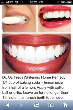 Teeth White: Dr. Oz