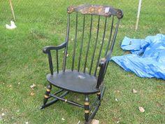 nichols  stone co. vintage rocking chair