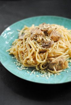 Parmesan and Brown Butter Chicken Linguine from @Jen @ Juanita's Cocina