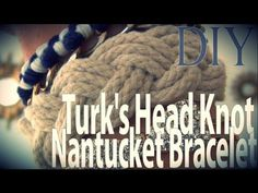 DIY Fashion ♥ Turk's Head Knot Nantucket Bracelet