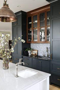 Kitchen And Bath, New Kitchen, Kitchen Dining, Kitchen Decor, Kitchen Cabinets, Kitchen Island, Living Room And Kitchen Design, Kitchen Styling, Küchen Design