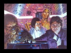 The other side has an image of Han, Leia, Chewie, and C-3P0 in the cockpit of the Millennium Falcon based on the scene from the movie.