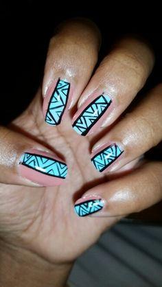 Tribal design nails