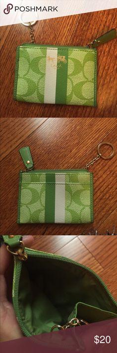 Green coach coin purse wallet Green Coach coin purse Coach Bags Wallets