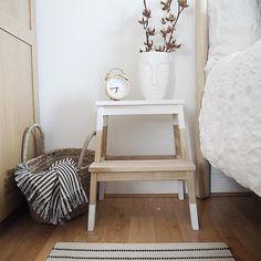 IKEA Hack: Gewebter Bekvam-Hocker aus veganem Leder - New ideas Diy Furniture Table, Diy Furniture Projects, Furniture Makeover, Home Furniture, Design Furniture, Garden Furniture, Bekvam Ikea, Bekvam Stool, Ikea Step Stool