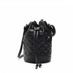 5Colors 2015 New Fashion Women Bags PU Leather Quilted Handbag Bucket Shoulder Messenger Bag Tote Satchel bolsa Free Shipping