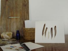 Protected Feathers Blank Greeting Card