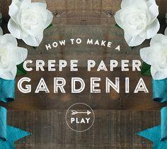 Crepe Paper Gardenias Tutorial