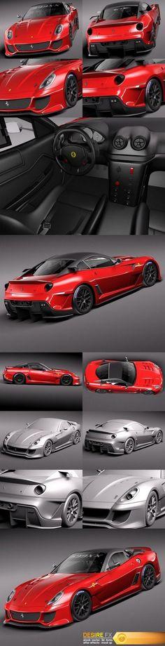 Ferrari 599 XX 3D Model http://www.desirefx.me/ferrari-599-xx-3d-model/