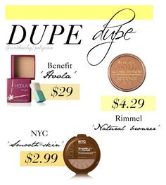 Bronzer Dupes by cinthiaeliz on Polyvore featuring polyvore, beauty, Benefit and Rimmel