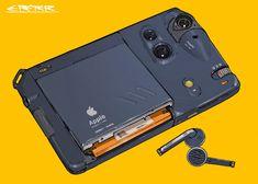 iPhone 11 Retro look by Futuristic Technology, Technology Gadgets, Tech Gadgets, Cyber Technology, Technology Design, Energy Technology, Modelos 3d, Prop Design, Art Et Illustration