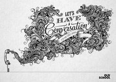 Let's Have A Conversation by Greg Coulton, via Behance