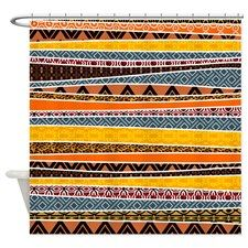 African Tribal Pattern Shower Curtains #africanpatterngifts #cafepress