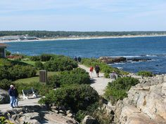 The Marginal Way in Ogunquit, Maine near Perkins Cove, a scenic mile-long stroll.