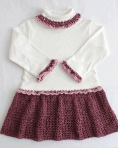 PA763 Petite Shells T-Shirt Dress Crochet Pattern- This adorable crochet pattern is made by embellishing a cotton knit shirt, long or short sleeve, or turtle neck. There is virtually no sewing involved, as the stitches are worked directly into the shirt! Skill Level: Easy. Size: Crochet pattern works any size shirts.
