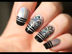 Vernis holographique et stripping tape (Nail-art facile)
