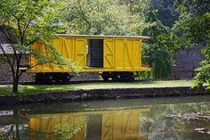 Boxcar at the Hagley Museum in Wilmington, DE