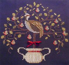 Meg's Partridge In A Pear Tree - A Brooke's Books Cross Stitch Freebie