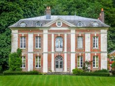 "The Chateau, a very attractive red brick and white stone construction from the "" Directoire"" period, is located in an idyllic location between a medieval town and the countryside.  #dreamhouse #chateau #realestate #forsale #leggettimmobilier"