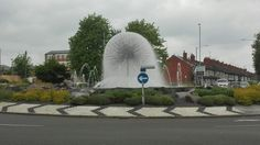 Nuneaton fountain _ UK roundabout of the year .. REALLY?!