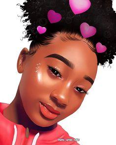 Looks so real Black Girls Pictures, Drawings Of Black Girls, Girl Drawings, Black Art Painting, Black Artwork, Black Love Art, Black Girl Art, Black Disney Princess, Black Girl Cartoon