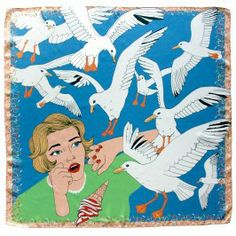 The Birds Silk Scarf