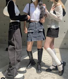 Ulzzang Fashion, Harajuku Fashion, Asian Fashion, New Fashion, Fashion Outfits, Pretty Outfits, Cool Outfits, Summer Outfits, Vivienne Westwood