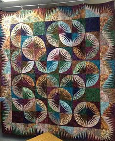 Japanese Fan ~ Quiltworx.com, made by Certified Shop, Mami's Country Quilts, Certified Instructor, Michele Foilleau