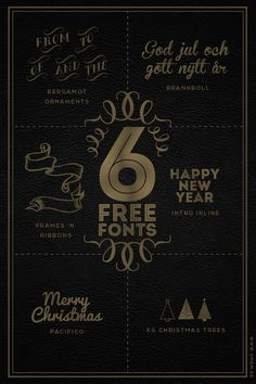 6 free fonts for Christmas http://xn--smm-rla.se/2013/december/6-free-fonts-for-christmas.html