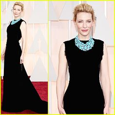 Cate Blanchett Makes Huge Necklace Statement at Oscars 2015