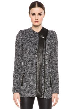$175 buy it now. IRO gray and white Derby jacket. This product is sold out everywhere. Purchased from The Outnet, on sale for $310, down from $934. This item is never worn (except to try on) and still has the tags on.