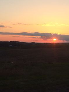 Sunset over the countryside