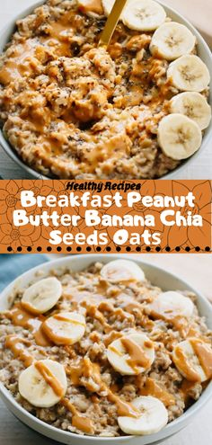 Healthy Recipes Br kf t Peanut Butt r Banana Chia S d O t Vegan Bowl Recipes, Healthy Muffin Recipes, Healthy Pasta Recipes, Healthy Recipes For Weight Loss, Healthy Meal Prep, Healthy Baking, Healthy Snacks, Breakfast Healthy, Vegetarian Recipes For Kids