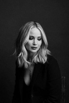 Jennifer Lawrence black and white portrait photography | #jlaw #jenniferlawrence #photography #celebrities
