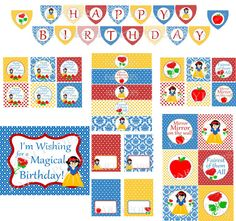 Digital Snow White Party Package  Snow White Party by PartyPops, $28.00