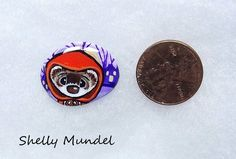 Original Ferret Painting, Whimsy Weasel Stone, Halloween Art- Shelly Mundel #IllustrationArt Halloween Art, Ferret, Original Artwork, Illustration Art, Hand Painted, The Originals, Stone, Painting, Ebay