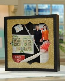"Store momentos, photographs, and souvenirs in this specially decorated box, which can be personalized for a gift, as seen on ""The Martha Stewart Show."""