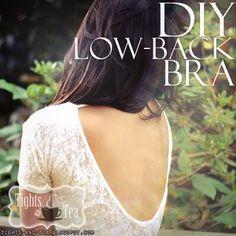 Convert a normal bra to a low back bra!