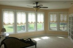 Austrian shades installed by Budget Binds of Victoria Texas.