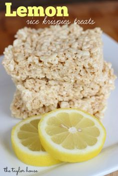 Lemon Rice Krispies Treats | http://www.thetaylor-house.com/