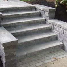 Hardscape: Brick pavers used to build stars and retaining wall   Yelp