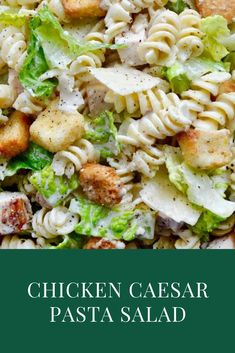 Whip up a meal in-a-bowl with a refreshing recipe for Chicken Caesar Pasta Salad starring DIY dressing. Best Salad Recipes, Chicken Salad Recipes, Healthy Recipes, Recipe For Pasta Salad, Recipes For Salads, Lunch Salad Recipes, Pasta Recipes With Chicken, Amazing Food Recipes, Garlic Chicken Pasta