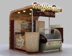 waffles selling kiosk Source by Kiosk Design, Cafe Design, Retail Design, Signage Design, Corporate Design, Design Design, Design Ideas, Graphic Design, Food Cart Design