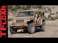 We drive the crazy cool retro Jeep Wrangler JK2A Staff Car Concept - YouTube